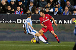 CD Leganes' Unai Bustinza and Getafe CF's Jaime Mata during La Liga match between CD Leganes and Getafe CF at Butarque Stadium in Leganes, Spain. December 07, 2018. (ALTERPHOTOS/A. Perez Meca)
