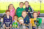 Kerry supporters at the Kerry Senior Football Team Media day at Fitzgerald Stadium on Saturday Front From Left Cathal McGonigle, Natalie Heasman, Emily Heasman, Emir Beasley, .Back from left. Alyssa Heasman, Orlaith O Connor, Ellie-Rose McGonigle (Castlegregory).
