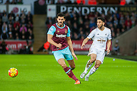 Neil Taylor of Swansea in action during the Barclays Premier League match between Swansea City and West Ham United played at the Liberty Stadium, Swansea  on December 20th 2015