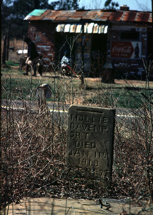 Lincoln segregated cemetery photo by Jim Peppler for an essay published in The Southern Courier March 4, 1967. Copyright Jim Peppler/1967. This and over 10,000 other images are part of the Jim Peppler Collection at The Alabama Department of Archives and History:  http://digital.archives.alabama.gov/cdm4/peppler.php
