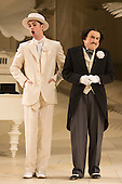 London, UK. 19 November 2015. Anthony Gregory as Nanki-Poo and Richard Suart as Ko-Ko. Dress rehearsal for the Gilbert and Sullivan comic opera The Mikado at the London Coliseum. Jonathan Miller's production of The Mikado returns to the Coliseum celebrating 200 performances on stage. Performances start on 21 November 2015 for 13 performances until 6 February 2016. With Robert Lloyd as The Midado, Anthony Gregory as Nanki-Poo, Richard Suart as Ko-Ko, Mary Bevan as Yum-Yum and Yvonne Howard as Katisha. Photo: Bettina Strenske