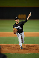Chattanooga Lookouts starting pitcher Scott Moss (30) during a Southern League game against the Birmingham Barons on May 1, 2019 at Regions Field in Birmingham, Alabama.  Chattanooga defeated Birmingham 5-0.  (Mike Janes/Four Seam Images)