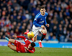 01.02.2020 Rangers v Aberdeen: Ianis Hagi caught by Shay Logan