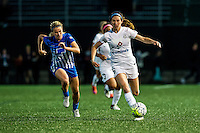 Allston, MA - Sunday, May 22, 2016: FC Kansas City midfielder Erika Tymrak (15) and Boston Breakers defender Christen Westphal (21) during a regular season National Women's Soccer League (NWSL) match at Jordan Field.