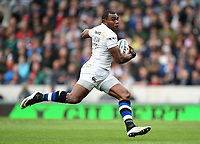 Semesa Rokoduguni of Bath Rugby runs in a try in the first half. Aviva Premiership match, between Leicester Tigers and Bath Rugby on September 3, 2017 at Welford Road in Leicester, England. Photo by: Patrick Khachfe / Onside Images