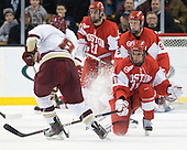 Edwin Shea (BC - 8), Matt Nieto (BU - 17), (Escobedo, Chiasson) - The Boston College Eagles defeated the Boston University Terriers 3-2 (OT) in their Beanpot opener on Monday, February 7, 2011, at TD Garden in Boston, Massachusetts.
