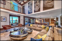 BNPS.co.uk (01202 558833)<br /> Pic:   Compass/BNPS<br /> <br /> A breathtaking lakefront mansion where Frank Sinatra and the Rat Pack partied has emerged on the market for over £20million. ($25,750,000)<br /> <br /> Entrepreneur William F Harrah built the property in 1963 on Lake Tahoe, which straddles the border of California and Nevada, to host the stars who performed at his nearby casino.<br /> <br /> A secret tunnel led from the casino to the eight bedroom villa where images of Sinatra, Dean Martin and Sammy Davis Jr still adorn the wall, while other famous guests included Judy Garland and fellow Rat Pack members Joey Bishop and Peter Lowrey.<br /> <br /> The main room, which offers stunning views of the lake, could fit around 100 people for cocktails and dancing.