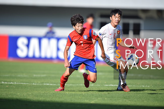 Korea Republic vs Vietnam during the 2014 AFC U19 Mens Championship group C match on October 09, 2015 at the Wunna Theikdi Stadium in Nay Pyi Taw, Myanmar. Photo by World Sport Group