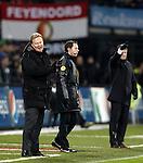 Nederland, Rotterdam, 1 december  2012.Eredivisie.Seizoen 2012-2013.Feyenoord-RKC Waalwijk.Ronald Koeman, trainer-coach van Feyenoord en Erwin Koeman, trainer-coach van RKC Waalwijk