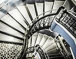 Interior stairwell in the Queen Victoria Building in Sydney, NSW, Australia.
