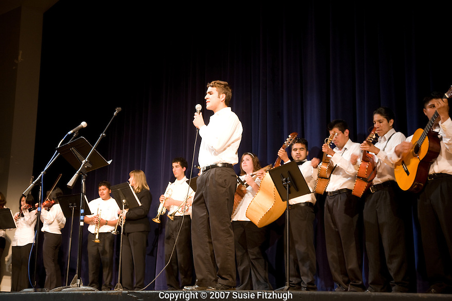 At the end of the year, the student Mariachi Band performs at Chief Sealth High School.