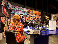 13-02-14, Netherlands,Rotterdam,Ahoy, ABNAMROWTT, Richard Kaijcek at Radio Rijnmond<br /> Photo:Tennisimages/Henk Koster
