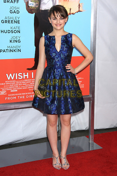 NEW YORK, NY - JULY 14: Joey King attends the New York Premiere of &quot;Wish I Was Here&quot; at the AMC Loews Lincoln Square Cinemas on July 14, 2014 in New York City<br /> CAP/LNC/TOM<br /> &copy;LNC/Capital Pictures