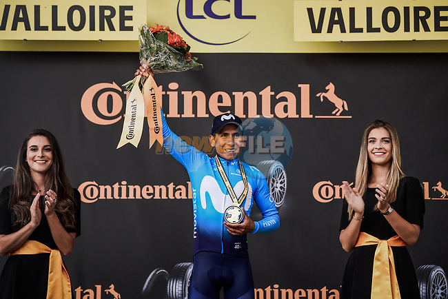 Nairo Quintana (COL) Movistar Team wins Stage 18 of the 2019 Tour de France running 208km from Embrun to Valloire, France. 25th July 2019.<br /> Picture: ASO/Pauline Ballet | Cyclefile<br /> All photos usage must carry mandatory copyright credit (© Cyclefile | ASO/Pauline Ballet)