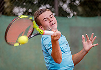 Hilversum, Netherlands, August 8, 2018, National Junior Championships, NJK, Daniel Verbeek (NED)<br /> Photo: Tennisimages/Henk Koster