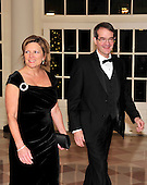 Robert King, President, United Auto Workers (UAW), and Julie Kushner arrive for the State Dinner in honor of President Hu Jintao of China at the White House In Washington, D.C. on Wednesday, January 19, 2011. .Credit: Ron Sachs / CNP