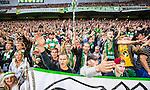 Stockholm 2014-08-24 Fotboll Superettan Hammarby IF - Ljungskile SK :  <br /> Hammarbys supportrar sjunger<br /> (Foto: Kenta J&ouml;nsson) Nyckelord:  Superettan Tele2 Arena Hammarby HIF Bajen Ljungskile LSK supporter fans publik supporters