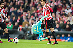Neymar da Silva Santos Junior (l) of FC Barcelona battles for the ball with Xabier Etxeita Gorritxategi of Athletic Club during their Copa del Rey Round of 16 first leg match between Athletic Club and FC Barcelona at San Mames Stadium on 05 January 2017 in Bilbao, Spain. Photo by Victor Fraile / Power Sport Images