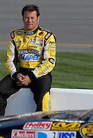 May 4, 2007; Richmond, VA, USA; Nascar Nextel Cup Series driver Robby Gordon (7) during qualifying for the Jim Stewart 400 at Richmond International Raceway. Mandatory Credit: Mark J. Rebilas