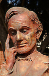 Lincoln in Meditation, Bronze bust by Henry van Wolf (1962), Burbank CA