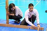 (L-R) Tomoka Takeuchi, Ryo Aono, APRIL 20, 2013 : The Building up Team Japan 2013 for Sochi at Ajinomoto NTC, Tokyo, Japan. (Photo by AFLO SPORT)