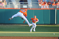 Clemson Tigers Shortstop Brad Miller during the opener of the 2011 season against the Eastern Michigan Eagles at Doug Kingsmore Stadium, Clemson, SC. Clemson won 14-3. Photo By Tony Farlow/Four Seam Images.