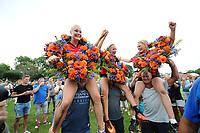 KAATSEN: WEIDUM: 23-08-2017, Dames PC, winnende drietal Louise Krol, Imke van der Leest en Sjanet Wijnia (koningin), ©foto Martin de Jong