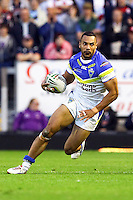 PICTURE BY ALEX WHITEHEAD/SWPIX.COM - Rugby League - Super League Play-Off - Warrington Wolves vs St Helens - The Halliwell Jones Stadium, Warrington, England - 15/09/12 - Warrington's Ryan Atkins in action.
