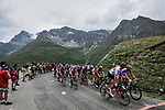 The remainder of the peloton climbs the Col d'Iseran during Stage 19 of the 2019 Tour de France originally running 126.5km from Saint-Jean-de-Maurienne to Tignes but cut short to 88.5 km, France. 26th July 2019.<br /> Picture: ASO/Pauline Ballet | Cyclefile<br /> All photos usage must carry mandatory copyright credit (© Cyclefile | ASO/Pauline Ballet)