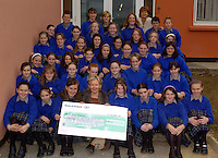 A coffee morning organised by First year Home Economics students at Milltown Presentation Secondary School raised 700 euro for the Kerry Hospice Foundation. Pictured is Kerry Hospice PRO Collette Nunan Kenny with students and coordinators Mary Costello and Maureen Moriarty at the cheque presentation.<br />