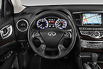 Steering wheel view of a 2014 Infiniti QX60