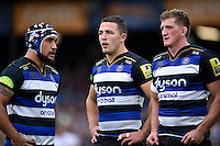 Sam Burgess of Bath Rugby looks on during a break in play. Aviva Premiership match, between Bath Rugby and Exeter Chiefs on October 17, 2015 at the Recreation Ground in Bath, England. Photo by: Patrick Khachfe / Onside Images