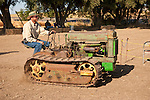 EDGE & TA Branch 158 Threshing Show and old-time harvest..John Boehm with his 1946 John Deere BO Lindeman crawler tractor