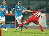 Omar El Kaddoury during the Europa  League Group D soccer match between SSC Napoli and Midtjylland at the San Paolo  Stadium in NaplesNovember 05, 2015