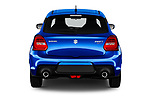 Straight rear view of a 2018 Suzuki Swift Sport Base 5 Door Hatchback stock images