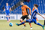 Brisbane Roar Forward Manuel Arana Rodriguez (L) fights for the ball with Ulsan Hyundai Midfielder Lee Yeongjae (R) during the AFC Champions League 2017 Group E match between Ulsan Hyundai FC (KOR) vs Brisbane Roar (AUS) at the Ulsan Munsu Football Stadium on 28 February 2017 in Ulsan, South Korea. Photo by Victor Fraile / Power Sport Images