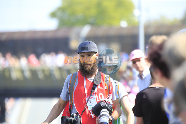 Beardy McBeard working hard during Stage 1 of the 2016 Giro d'Italia, an individual time trial of 9.8km around Apeldoorn, The Nethrerlands. 6th May 2016.<br /> Picture: Eoin Clarke | Newsfile<br /> <br /> <br /> All photos usage must carry mandatory copyright credit (&copy; Newsfile | Eoin Clarke)