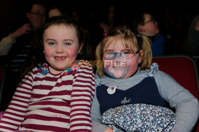 Caoimhe and Aveen Carroll at the  Peter Pan Panto int eh TLT.<br /> Picture: Fran Caffrey www.newsfile.ie