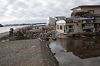 HIGASHI, JAPAN - DECEMBER 2: A destroyed residential area still not being cleared eight months after the tsunami on December 2, 2011,in Higashi, Japan. The small town was almost wiped off the map during the tsunami Northeastern Japan's coastline was struck by an earthquake measuring 9.0 on the Richter scale and a Tsunami on March 11, 2011 which destroyed villages and livelihoods for hundreds of thousands of people. Almost 16,000 dead, thousands missing, more than 700,000 properties destroyed and an estimated 387,000 survivors lost their homes. Its estimated that it will take more than five years to rebuild. The cost is estimated to 309 billion U.S. dollars, the world's most expensive natural disaster. Many children suffered especially with school destroyed, education interrupted and the loss of family members took a heavy toll. (Photo by Per-Anders Pettersson)