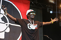 Flavor Flav of Public Enemy performs during The New Look Wireless Festival at Finsbury Park, London, England on 28 June 2015. Photo by Andy Rowland.