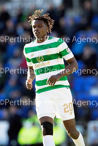 St Johnstone v Celtic&hellip;04.11.17&hellip;  McDiarmid Park&hellip;  SPFL<br />Dedryck Boyata<br />Picture by Graeme Hart. <br />Copyright Perthshire Picture Agency<br />Tel: 01738 623350  Mobile: 07990 594431