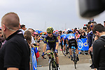 Chris Juul Jensen (IRL/DEN) Orica-Scott arrives at sign on before Stage 2 of the 100th edition of the Giro d'Italia 2017, running 221km from Olbia to Tortoli, Sardinia, Italy. 6th May 2017.<br /> Picture: Ann Clarke | Cyclefile<br /> <br /> <br /> All photos usage must carry mandatory copyright credit (&copy; Cyclefile | Ann Clarke)