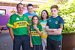 Pat O'Sullivan, Adam O'Sullivan, Ciara O'Sullivan, Catherine O'Sullivan and Eric O'Sullivan from Ballymac getting ready to watch the all Ireland Final, Kerry V Donegal, on Sunday at O'Riada's Bar
