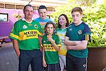 Pat O'Sullivan, Adam O'Sullivan, Ciara O'Sullivan, Catherine O'Sullivan and Eric O'Sullivan from Ballymac getting ready to watch the all Ireland Final, Kerry V Donegal, on Sunday at O'Riada's Bar