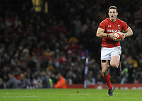 Wales George North in action during todays match<br /> <br /> Photographer Ian Cook/CameraSport<br /> <br /> 2018 NatWest Six Nations Championship - Wales v Italy - Sunday 11th March 2018 - Principality Stadium - Cardiff<br /> <br /> World Copyright &copy; 2018 CameraSport. All rights reserved. 43 Linden Ave. Countesthorpe. Leicester. England. LE8 5PG - Tel: +44 (0) 116 277 4147 - admin@camerasport.com - www.camerasport.com