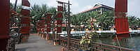 Thaïlande/Bangkok: Le jardin de l'hotel Marriott vu depuis l'embarcadère