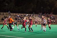Stanford, CA -- September 14, 2017. Stanford Women's Field Hockey played UOP at Varsity Field Hockey Turf. Stanford won 1-0.