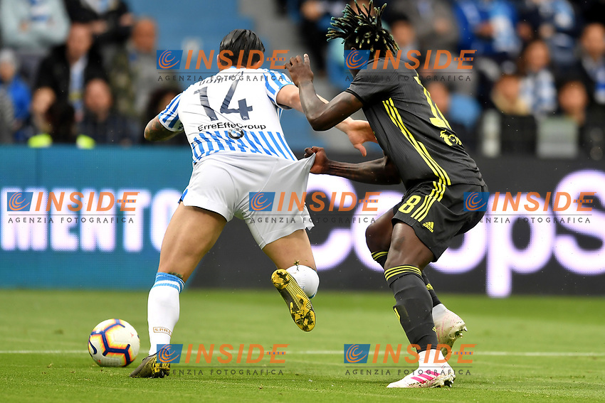 Kevin Bonifazi of SPAL, Moise Kean of Juventus <br /> Ferrara 13-4-2019 Stadio Paolo Mazza Football Serie A 2018/2019 SPAL - Juventus <br /> Foto Andrea Staccioli / Insidefoto