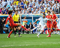Brasilia, Brazil - Saturday, July 5, 2014: Argentina defeated Belgium 1-0 during a quarter final match at Estádio Nacional de Brasilia.