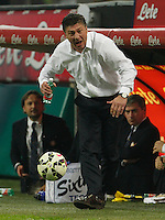 Walter Mazzarri during the Italian serie A   soccer match between SSC Napoli and Inter    at  the San Siro    stadium in Milan  Italy , Octobrr 19 , 2014